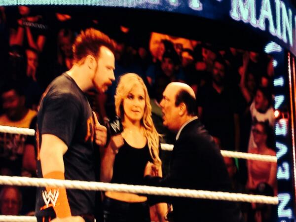 .@WWECESARO's advocate @HeymanHustle confronted by @WWESheamus on #MainEvent. #WWENetwork http://t.co/9LoqPn356B
