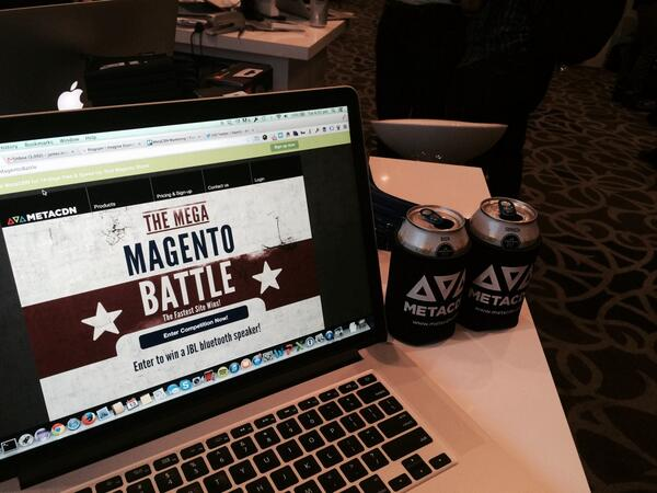 metacdn: Keep your hands warm during marketplace drinks with our beer koozies - come say hello #MagentoImagine http://t.co/2fjDowtNiS