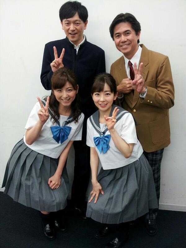 制服姿の松尾由美子