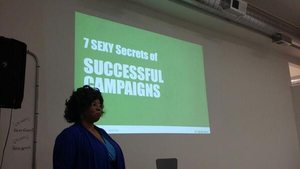 Listening to @ch3ryl talk about seven sexy secrets of successful campaigns. Stay tuned for the @Storify! :) #sfn2 http://t.co/j6VITxJxap