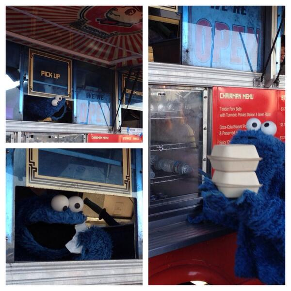 Special visitor today at Serramonte! Cookie Monster had a craving for bao! Thank you @sesamestreet for the visit! http://t.co/dJVhmRkpr1