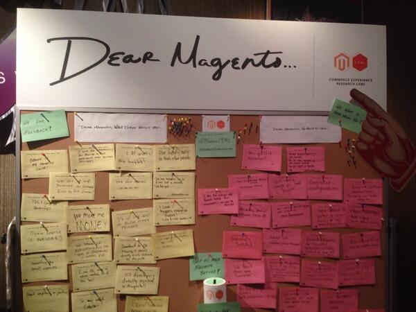 neiljharner: Brilliant user research! @magentocerl #MagentoImagine - Dear Magento, I love you're taking feedback in an open forum! http://t.co/Sqi0TbIGBu