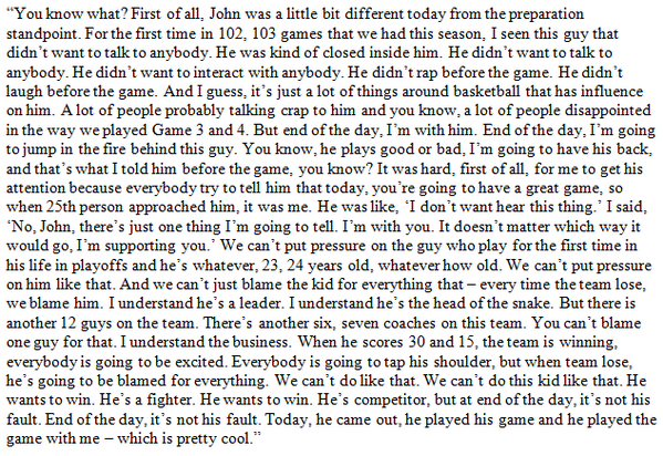 The text of Marcin Gortat's soliloquy on John Wall after the #Wizards' Game 5 victory over the Pacers: http://t.co/rLf5lGK1oG