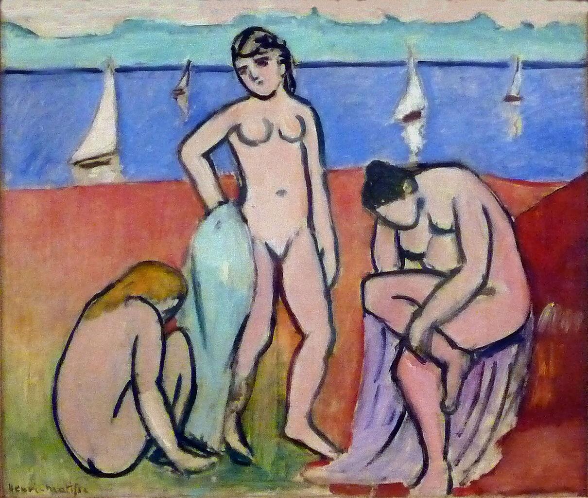 Three Bathers