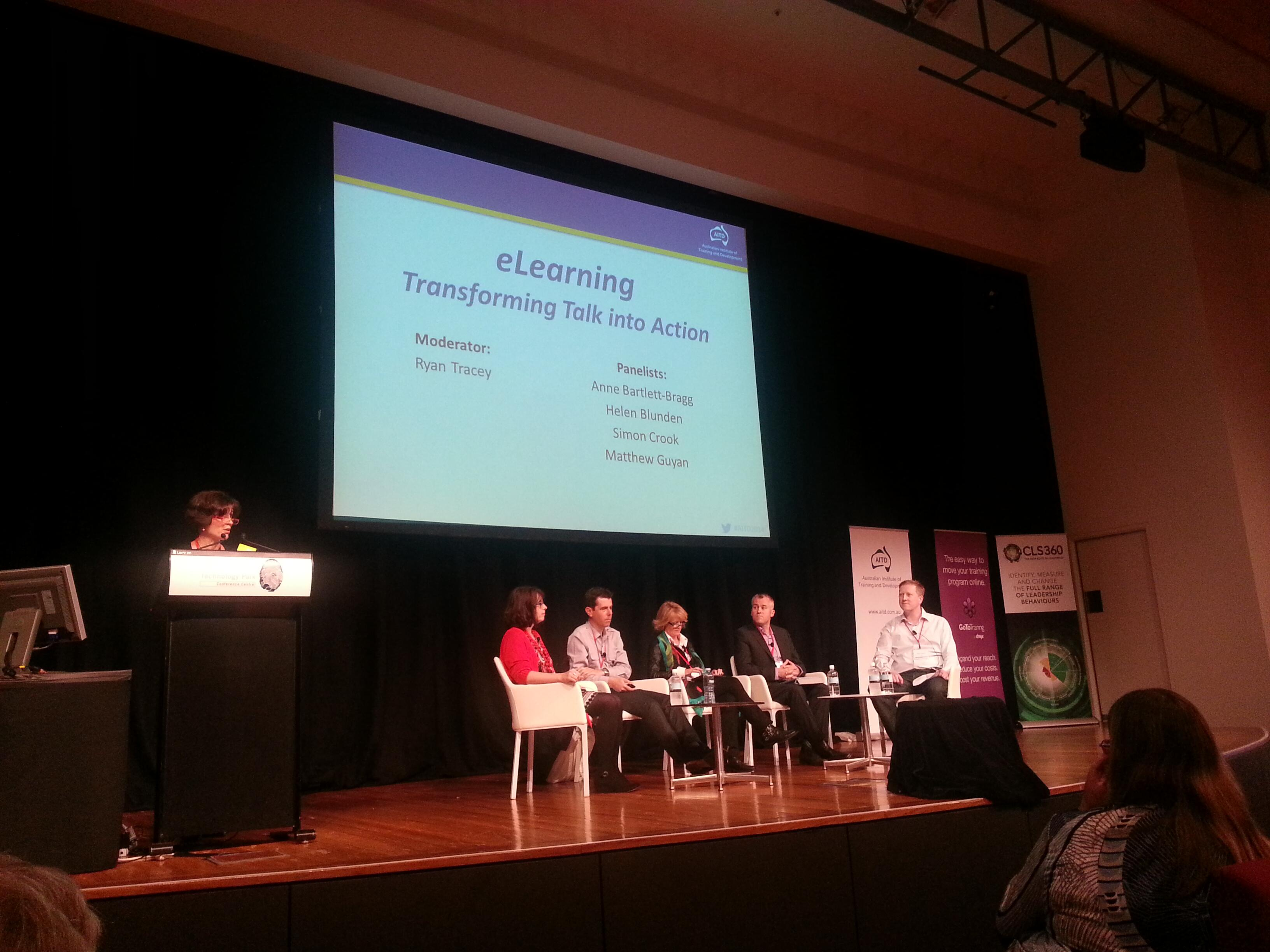 The e-learning panel at AITD2014