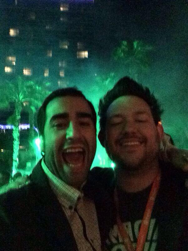 meetsio: Incredible party at #MagentoImagine with people such awesome as @philwinkle! http://t.co/eHf26nlWvA