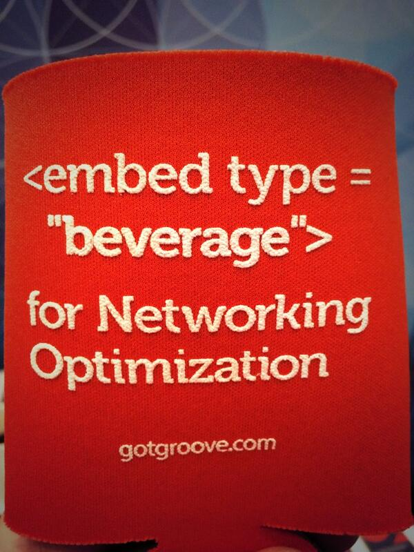 igotgroove: Plenty of networking optimization koozies left at the Groove booth - goes great w/ coffee! #MagentoImagine http://t.co/Q2BqjPEtkK