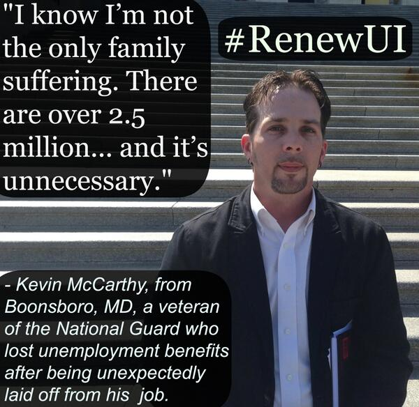 Millions are suffering because of the #GOP's inaction. It's time for @SpeakerBoehner to allow a vote to #RenewUI http://t.co/klziRH6PkO