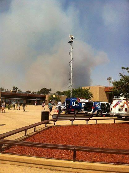 Were the fire evacuation zones far enough away? IMAGE