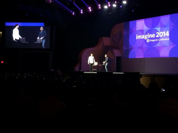 magento_rich: David and Mark on stage. #MagentoImagine http://t.co/WYNeE1sYQU