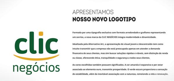 Novo logotipo da Clic Negócios http://t.co/5MYt9M0qE9
