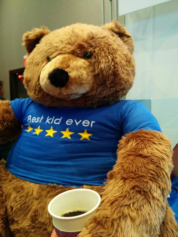 Yotpo: After last night, even the Bear needs a coffee. #MagentoImagine http://t.co/LYb3LAjIUg