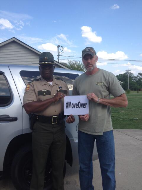 Grateful to @darrylworley 4 lending his celebrity 2 join the #MoveOver movement & help save lives. w/Capt Tony Barham http://t.co/jlGDfQ8oQs