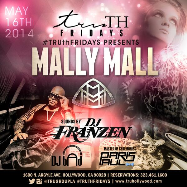 #TRUthFridays Presents @MallyMall @MallyMall_Music this Friday w/ sounds by @DJ_FRANZEN alongside @DJBADMUSIC http://t.co/gns747jrbj