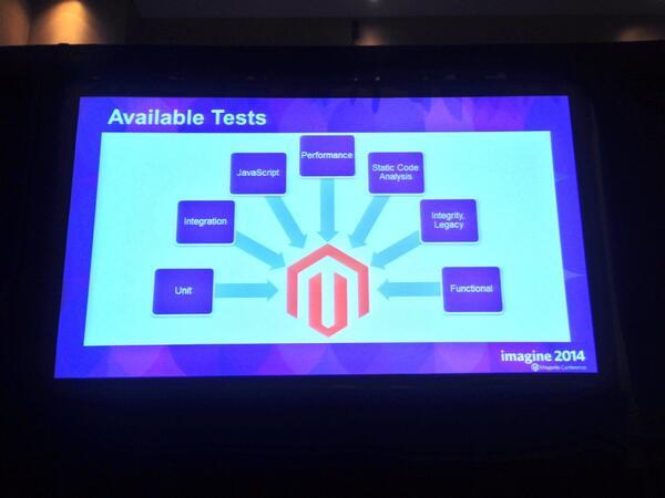 benmarks: You want tests? We got 'em. #Magento2 #MagentoImagine http://t.co/iqcrV0q9MR