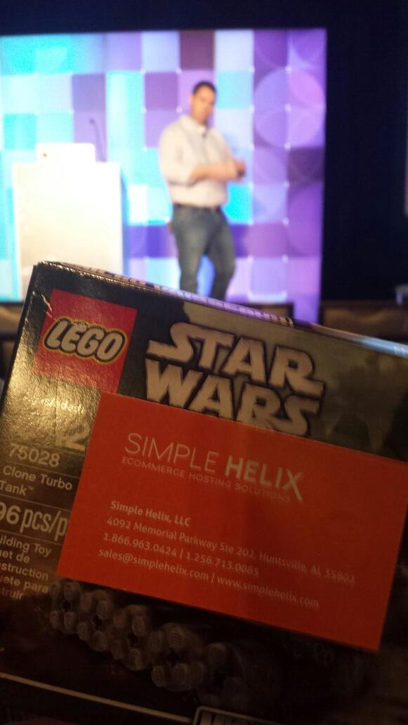 flagbit: Thanks #simplehelix for giving away lego  #MagentoImagine during their session on their lego approach for their cloud http://t.co/NymszKaIRE
