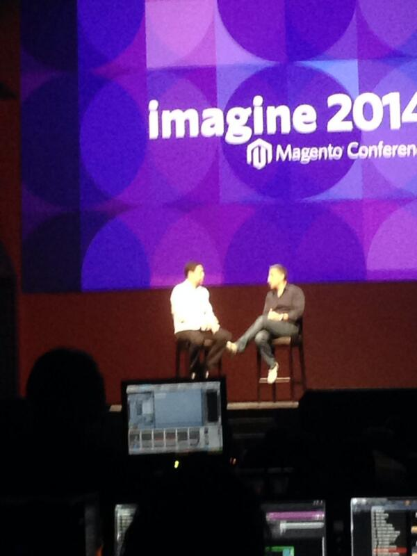 JoshuaSWarren: Awesome discussion with @mklave1 and @davidmarcus at #MagentoImagine this morning. http://t.co/XkPYGiF2cW