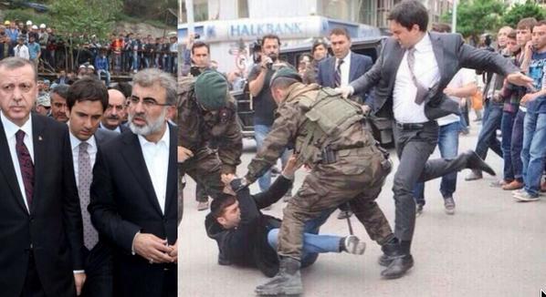 Halkın adamı Başbakanımız ve saygıdeğer müşaviri @YusufYerkel Soma'da yakınlarını kaybedenleri teselli ederken. http://t.co/lR45NhR48m