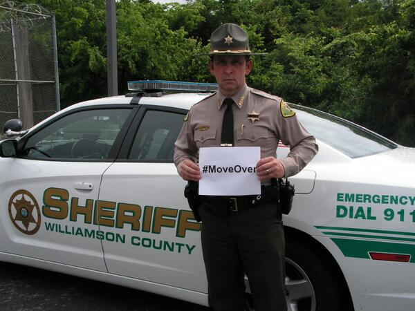 The Williamson County Sheriff's Office @WCSO_Sheriff supports #MoveOver http://t.co/uF4UCcLVg2