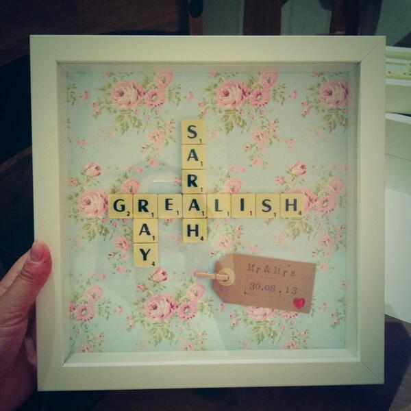 Scrabblecharl On Twitter Personalised Scrabble Frame For The New Mr Mrs Make Perfect Wedding Gift