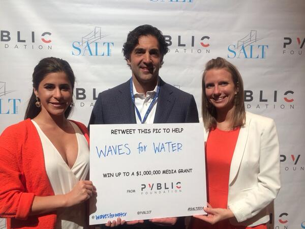 RT to help @wavesforwater win PVBLIC media grant up to $1,000,000! Org w/most RTs by 5pm PST 5/15 wins!  #SALT2014 http://t.co/VVRAz6odHa