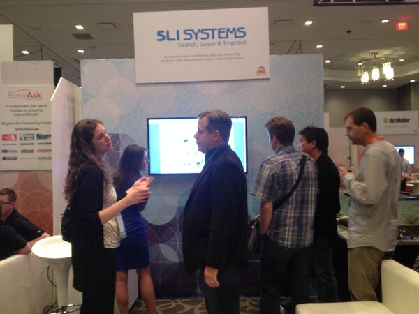slisystems: Thanks for an excellent show so far @Magento! Our booth is BUSY! #MagentoImagine http://t.co/WkXmbNF5Cy