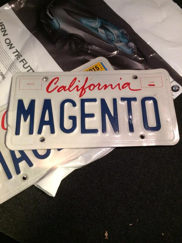 YoavKutner: After 3 cars and many years I am retiring my @Magento license plates #magentoimagine http://t.co/yTqbsLFKnJ