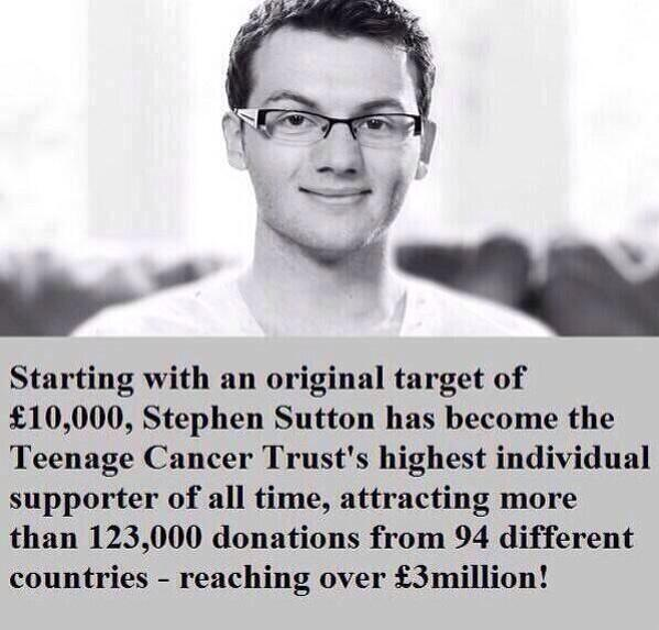 For those not aware of the impact of this remarkable person: RIP Stephen Sutton http://t.co/TCh9nihOZA