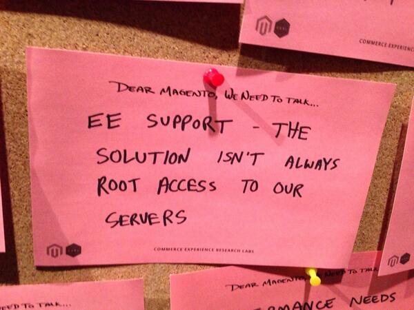 gsautereau: Imagine 'dear Magento' board, Best of #magentoImagine #supportthesupportteam http://t.co/S21SkUNLJh