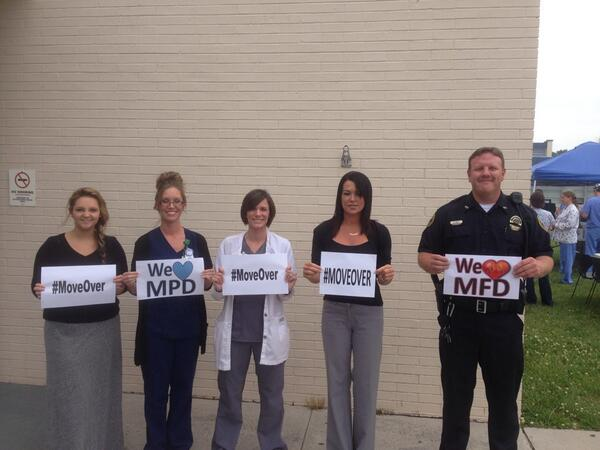 URMC Manchester Staff & Friends are on board! They are supporting #MoveOver @THP_Colonel @MarthaMac13 http://t.co/EYxnXQak7r