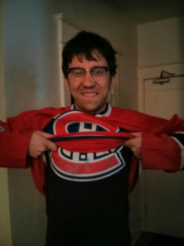 My #habsritual is my trusty Carey Price jersey (praise be unto Him), my toque and undershirt #GoHabsGo http://t.co/6fan4JMucx