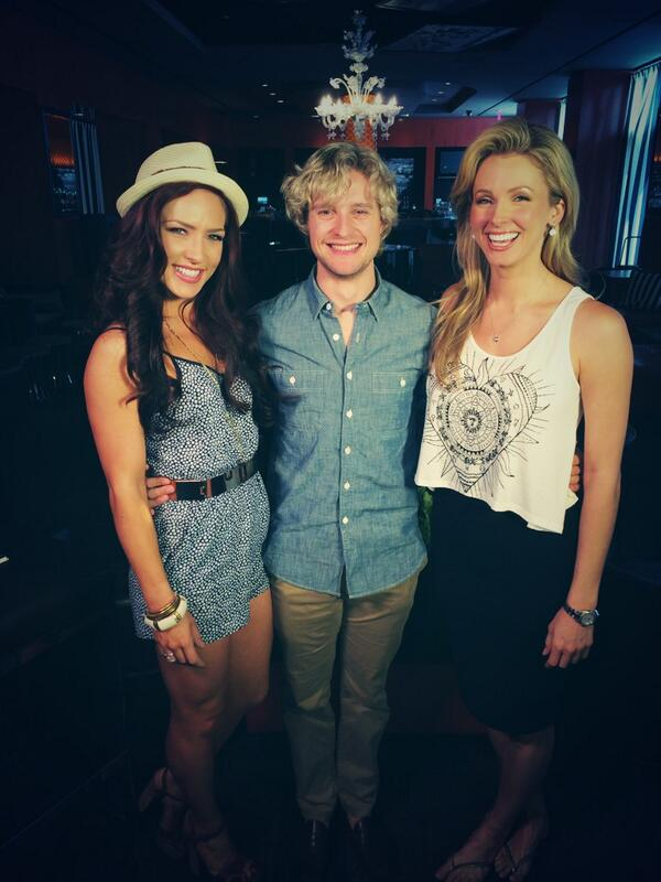 Fun talking with @DancingABC couple @CharlieaWhite and @SharnaBurgess today for @OKTVUSA! Eliminated too soon!! #DWTS http://t.co/CQ0FY94r19