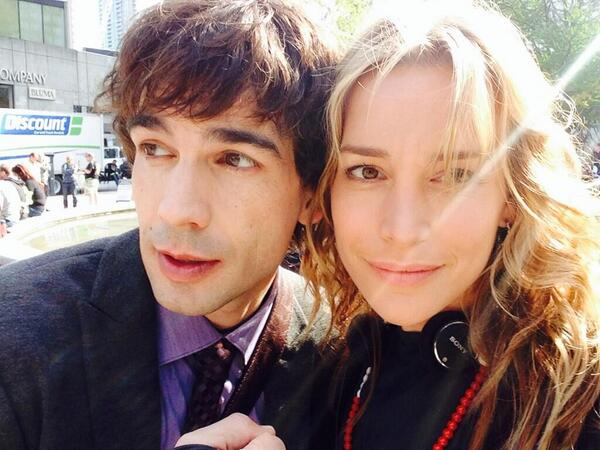 Here's a shot from @PiperPerabo w/ @ChrisGorham. RT if you can't wait until #CovertAffairs premieres on June 24. http://t.co/s2fD5Q190b