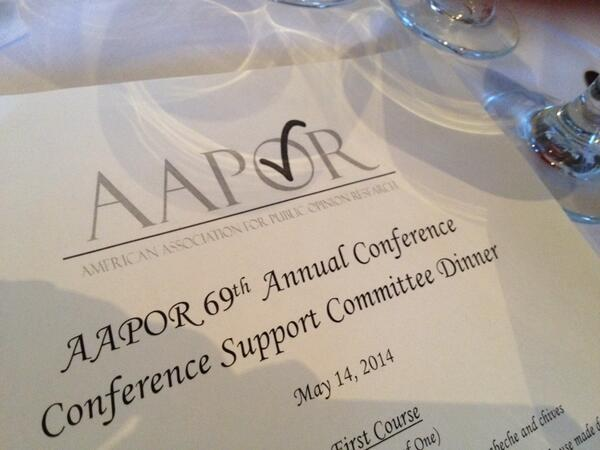 Getting ready to have a great #aapor ! http://t.co/U0kPzu8ZKW