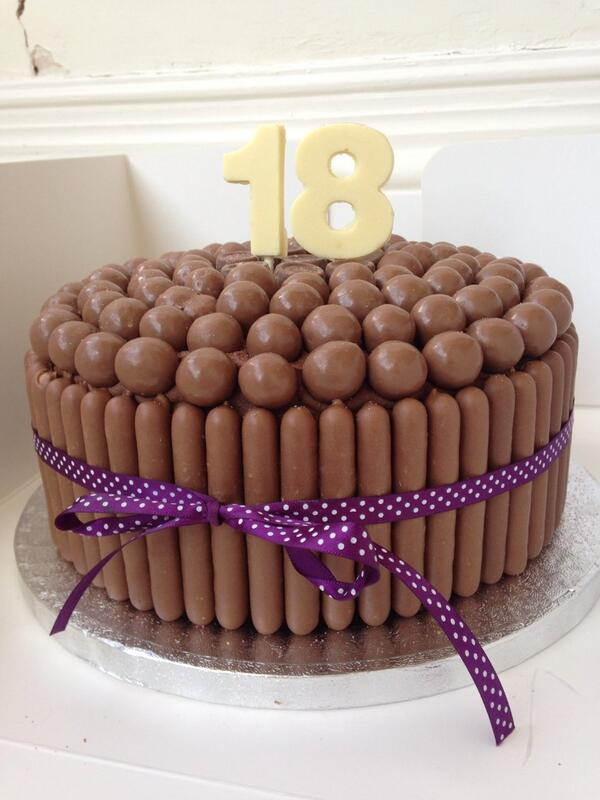 Charlies Cupcake Co On Twitter 18th Birthday Chocolate Cake