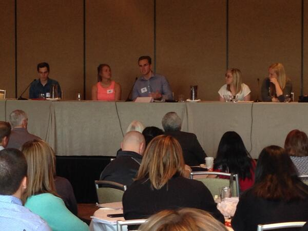 Great student panel sharing their experiences! #StepUP2014KC http://t.co/hkL4113NOv