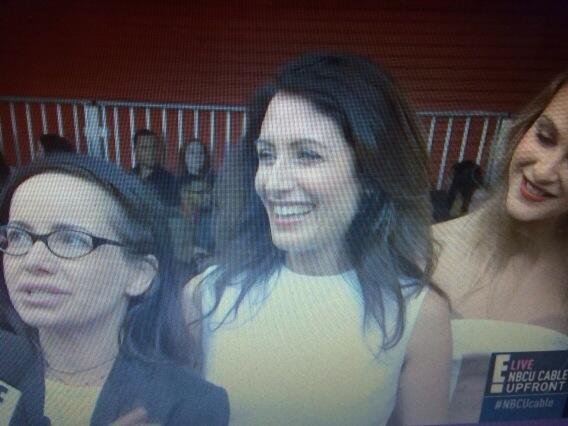 Lisa Edelstein, gorgeous in white at the #NBCUCable upfronts #Bravo #GGTD http://t.co/iw6tZJiJeW