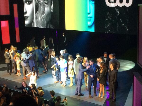 The full #CW casts at the #CWUpfront http://t.co/vv9QiRC6yF