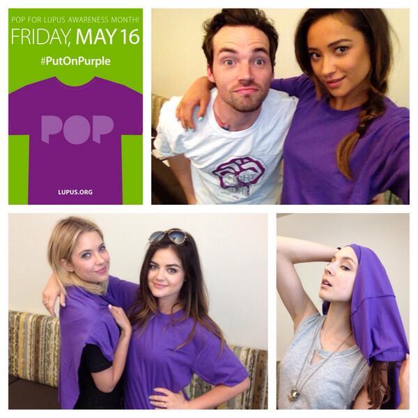 .@IANMHARDING & other stars from @ABCFpll #putonpurple for #lupusawareness! Join them 5/16 - http://t.co/4u7rA8ECji http://t.co/BAr6KzYr6G