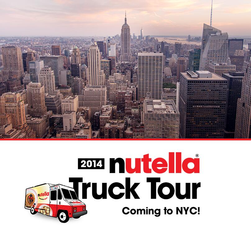 5/19 and 5/24 - Nutella Truck Tour - Free Nutella Samples!