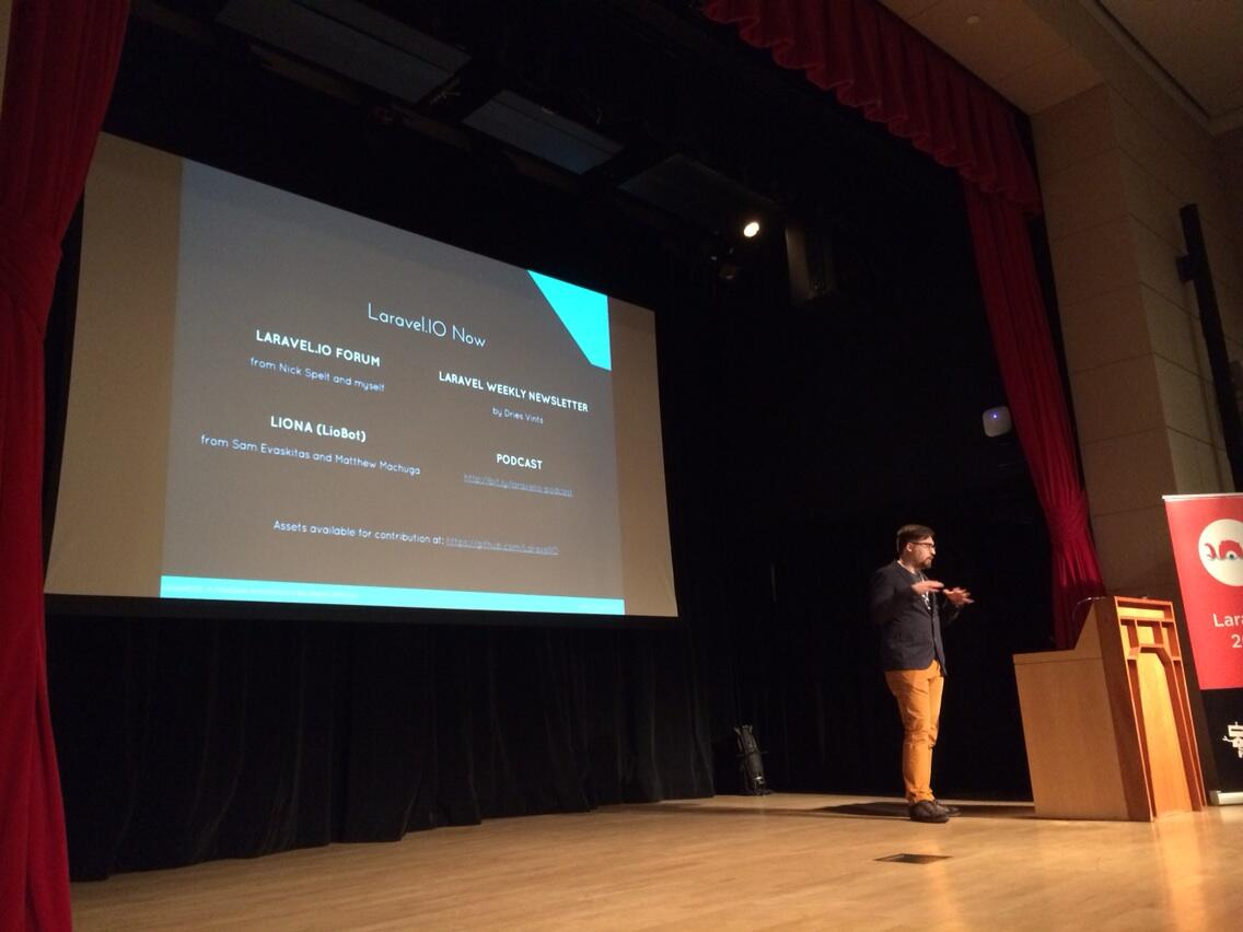 Shawn McCool presenting at Laracon