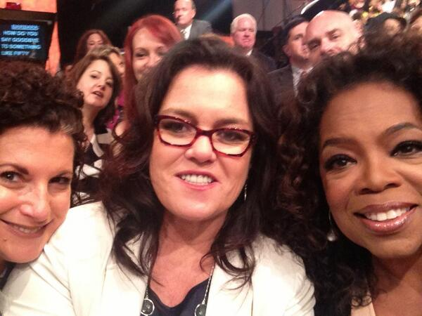 Front row @BarbaraJWalters' last show on @theviewtv with @Rosie & @Oprah - a special day honoring a remarkable woman http://t.co/umrJZTK8mj