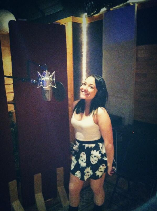 Tracking vocals with @JennelGarcia for her new single . She's killing it!! Wow http://t.co/nQZYC1bLyC http://t.co/TPiDabJuYU