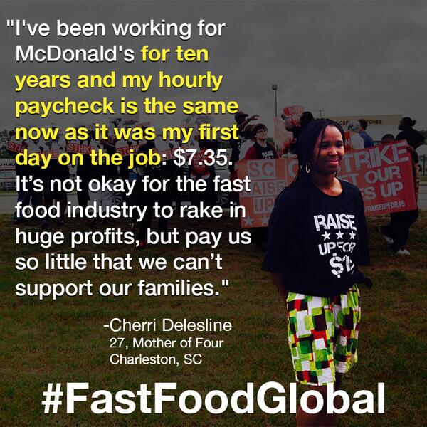 Retweet if you're proud of all the fast food workers who stood up for a better life today. #FastFoodGlobal http://t.co/ImWWICavqY
