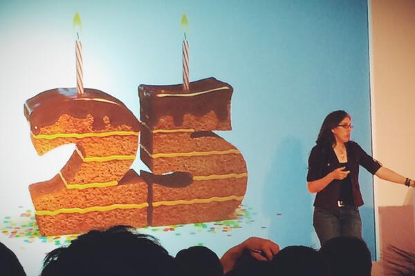 25 years of the web and HTML with @jensimmons #jquk – amazing to think of what's been achieved in that short time. http://t.co/zBv3AYUvT0