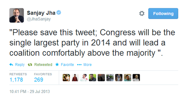 "LOLLLLLL RT @athyunnath ""Dear @JhaSanjay, you asked us to save your tweet, and we obliged. Here's that tweet. :) http://t.co/YviOLrapbX"""