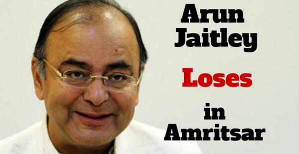 #PollBreaking at 02:27pm | Arun Jaitley LOSES!  Live: http://t.co/TIcIyT9005 #LSpolls http://t.co/oGBsebhd7J