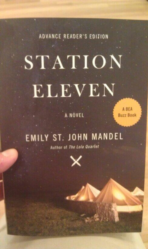 So excited for my next read Station Eleven by Emily St. John Mandel #rauncon @darienlibrary http://t.co/bZWUQOuiDA