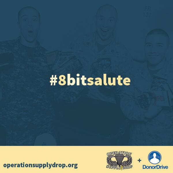 Op Supply Drop is Sat. 24-hrs of gaming to support our troops http://t.co/2CBAokbnFz #8bitsalute http://t.co/k8SJmQkCNd