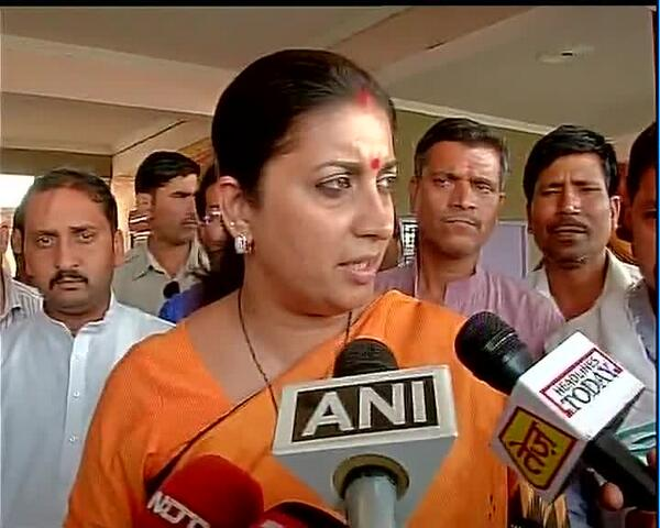 Smriti Irani,BJP: I had said that contest will be only between Congress & BJP in this seat(Amethi) #Election2014 http://t.co/PIqfwuYBbn
